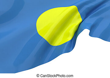 Illustration flags of Palau