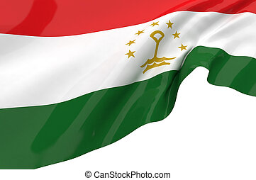 Illustration flags of Tajikistan
