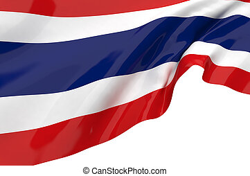 Illustration flags of Thailand