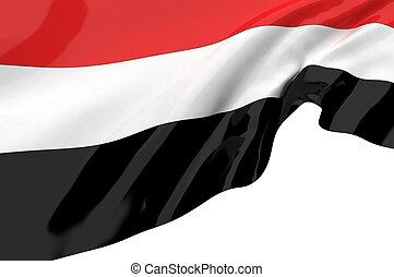 Illustration flags of Yemen