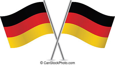 illustration., flags., vecteur, allemagne