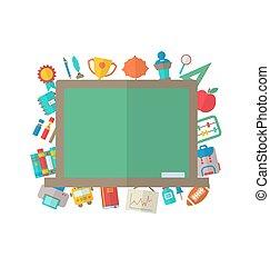 Flat Icons of Blackboard