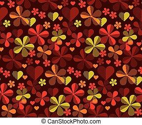 illustration., flor, patrón, resumen, seamless, superficie,...