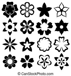 Illustration flowers icons