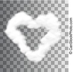 Illustration Fluffy Cloud Shape Heart Love