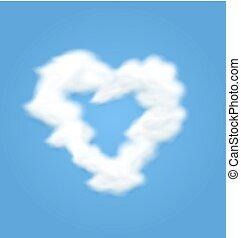 Fluffy Cloud Shape Heart Love