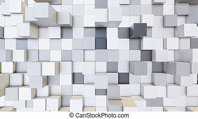 illustration, fond, cubes, 3d, résumé, coloré