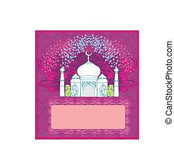 illustration, fond, -, vecteur, ramadan, mosquée
