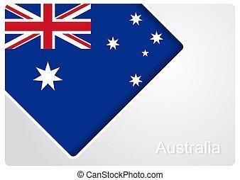 illustration., fondo., bandiera, vettore, disegno, australiano