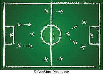 Teamwork strategy - Illustration football game. Teamwork ...