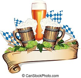illustration for a beer festival