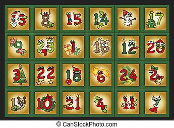 advent calendar - illustration for advent calendar with ...