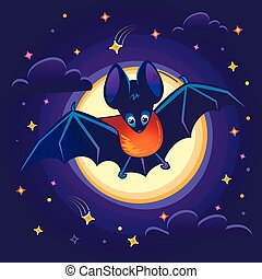 Illustration for children batn night