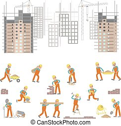Illustration for construction site
