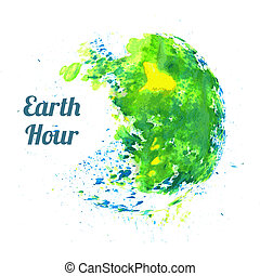 Illustration for Earth Hour
