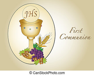 first communion - illustration for first communion with...