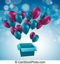 Illustration for happy birthday balloons Vector