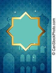 Illustration for month of Ramadan, decorative Islamic...