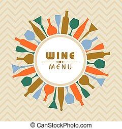 Illustration for wine shop menu