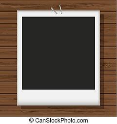 illustration., foto, wood., opción, vector, mejor