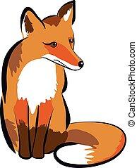 illustration, fox.