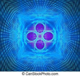 illustration fractal ornament background bright pattern of squar