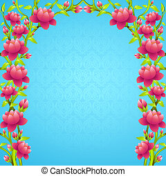 frame background with flowering