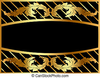 illustration frame from gild with pattern
