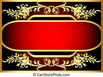 frame with bright pattern