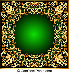 frame with gold patte