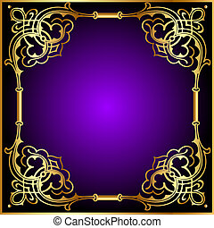 frame with vegetable and gold(en) pattern
