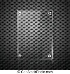 illustration., framework., metálico, vidro, vetorial, fundo