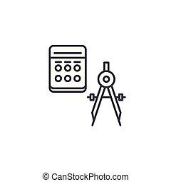 illustration., géométrie, concept., symbole, signe, vecteur, ligne, icône, linéaire