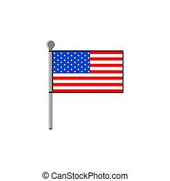 illustration, gabarit, américain, vecteur, drapeau, conception