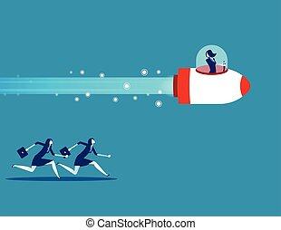 illustration., gens, vecteur, conception, concept, plat, style., competition., business