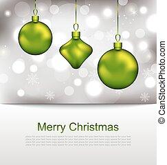 Glowing Postcard with Christmas Balls