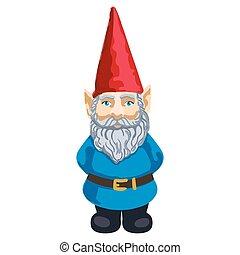 illustration, gnome, jardin