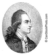 Illustration, Goethe portrait