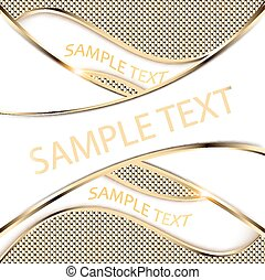 gold background with a wave and shine