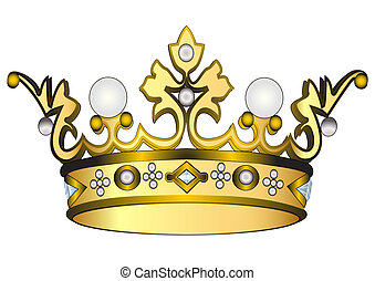 gold royal crown - illustration gold royal crown insulated...