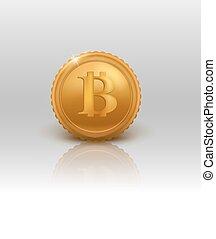 Illustration Golden Bitcoin.