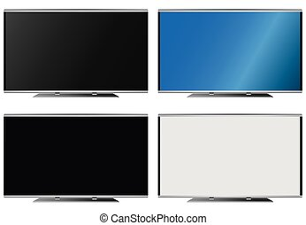 Illustration Graphic Vector Flatscreen with Copyspace for...