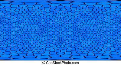 illustration., grau, seamless, hexágonos, vista, vr., 360, ...