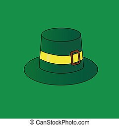 illustration, green St. Patrick's Day hat. Celebration.