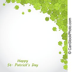 Greeting Background with Clovers for St. Patricks Day