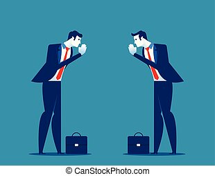 illustration., greeting., paga, manos, socios, vector, ...