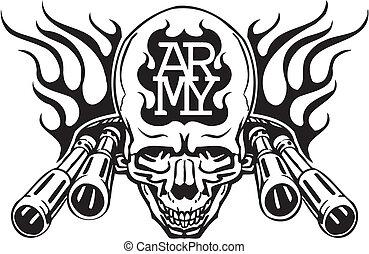 illustration., hadsereg, -, bennünket, vektor, tervezés,...