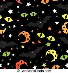 illustration., halloween, arrière-plan., vecteur, gabarit, design.