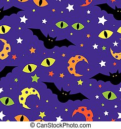 illustration., halloween, bakgrund., vektor, mall, design.