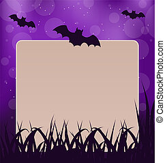 Halloween card with place for text